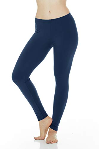 (Thermajane Women's Ultra Soft Thermal Pants Bottoms (Navy, Small))