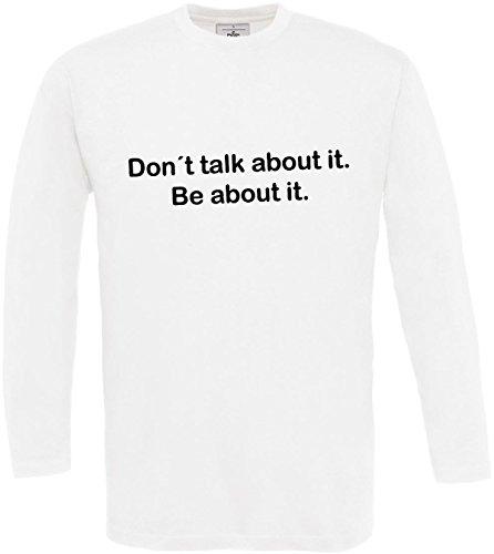 Hombre Manga de Camiseta No Cita acerca Hablar motivaci larga hables la TdwxBUwq5