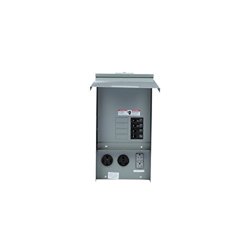 Surface Mount Power Feed - Siemens TL137US Talon Temporary Power Outlet Panel with a 20, 30, and 50-Amp Receptacle Installed, Unmetered