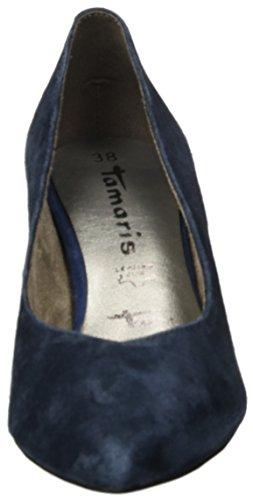 Tamaris Damen 22430 Pumps Blau (camoscio Blu Scuro)
