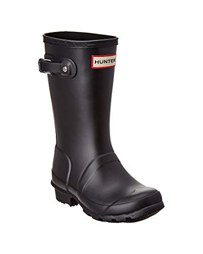 (Hunter Kids Original Black Rain Boot -)
