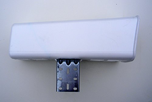 Standard PLastic Newspaper Tube Holder with Mounting Bracket, White