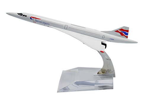 Concorde Jet (TANG DYNASTY(TM) 1:400 16cm Concorde British Airways Metal Airplane Model Plane Toy Plane Model)