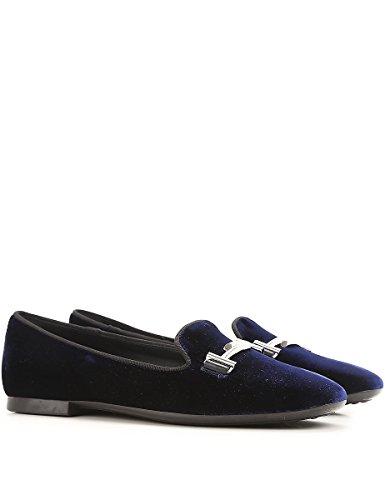 Tod's Slippers XXW47A0V141HGC2643 in Blu Velluto Donna q6q4zrw