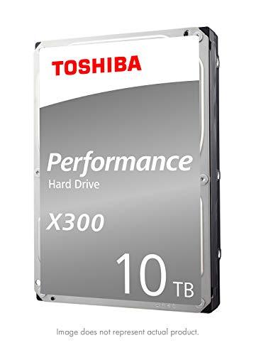 Toshiba HDWR11AXZSTA X300 10TB Performance & Gaming Internal Hard Drive 7200 RPM SATA 6Gb/s 256 MB Cache 3.5