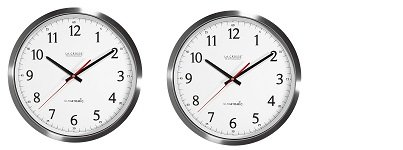 La Crosse Technology 404-1235UA-SS 14 Inch UltrAtomic Analog Stainless Steel Wall Clock - Clock Atomic Outdoor Analog
