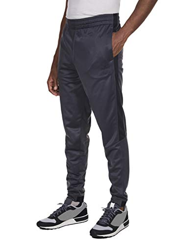Spalding Mens Tricot Tapered Zipper Track Pants Gravel Medium ()