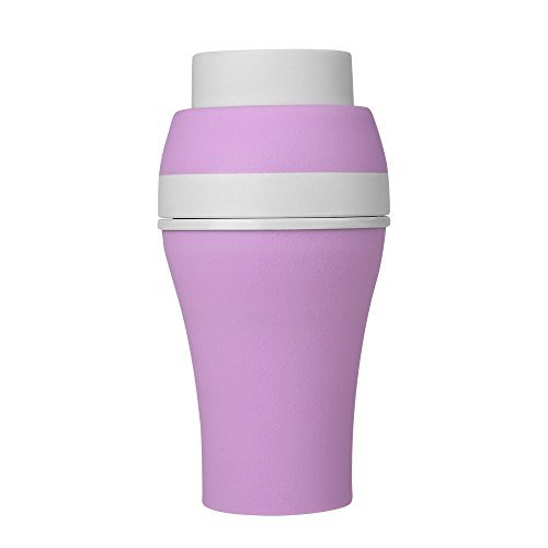 Jerrybox Silicone Water Bottle BPA-Free Foldable Travel Coffee Mug, Innovative Multi-Capacity 200 mL, 300 mL, 400 mL, 600 mL for Travel and Daily Use, Pink (20oz)