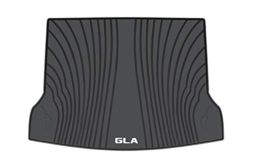 HD-Mart Rubber Trunk Cargo Liner Mats Mercedes Benz GLA 2014-2015-2016-2017-2018-2019 Custom Fit, Black for All Weather - Heavy Duty & Odorless