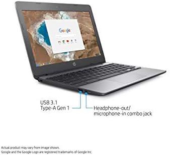 HP Chromebook 11.6in HD Touch Screen with IPS, Celeron N3060 @ 1.6GHz, 4GB RAM, 16GB eMMC, Gray (Renewed)