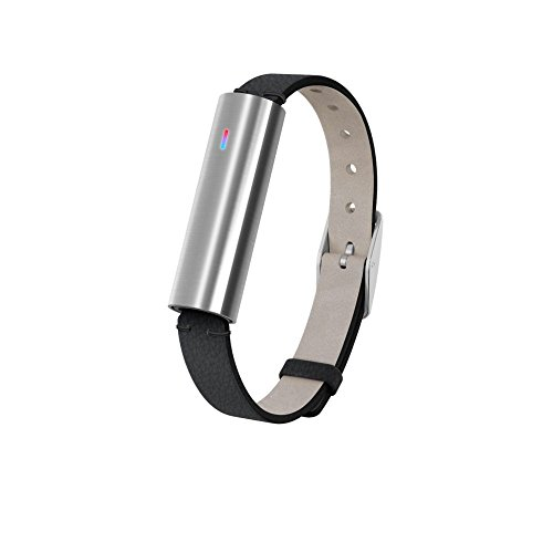 Misfit Ray - Fitness + Sleep Tracker with Black Leather Band (Stainless Steel) by Misfit Wearables