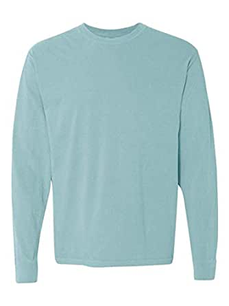 Comfort Colors Men's Adult Long Sleeve Tee, Chalky Mint, Small