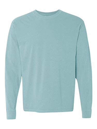 Comfort Colors Men's Adult Long Sleeve Tee, Style 6014, Chalky Mint, 4X-Large