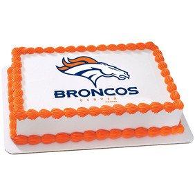 Denver Broncos Licensed Edible Cake Topper (Denver Broncos Cake)