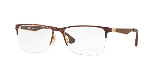 Ray-Ban Men's RX6335 Eyeglasses Gold/Havana - Ray Rx6335 Ban