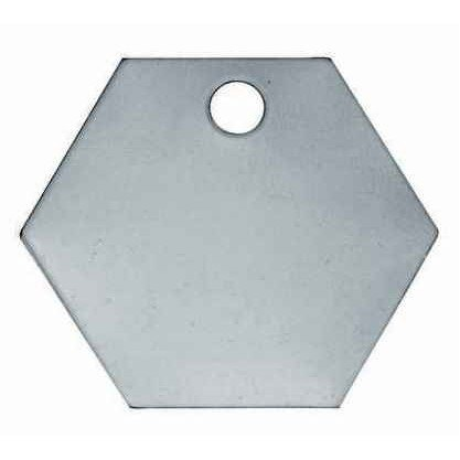 C.H. Hanson C H Hanson 1-1/4'' Aluminum Hexagon Blank Metal Tag - 100 pk. by C.H. Hanson (Image #1)