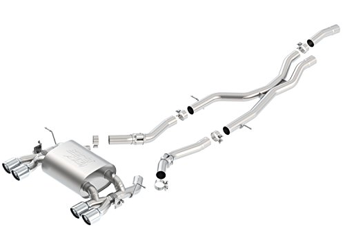 Borla 140731 ATAK Cat-Back Exhaust System 2.5 in. Incl. Connecting Pipes/Mufflers/Mounting Hardware Dual Round Rolled Angle Cut Tips Dual Split Rear Exit ATAK Cat-Back Exhaust (Borla Bmw Rear Exhaust System)