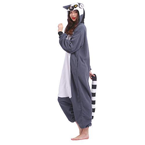 Lemure PALAFOX Unisex Homewear Animale Pigiama Kigurumi Mode 2018 Pigiama Costume Caldo Cosplay Onesies Adulto Anime ZrqwZ6E