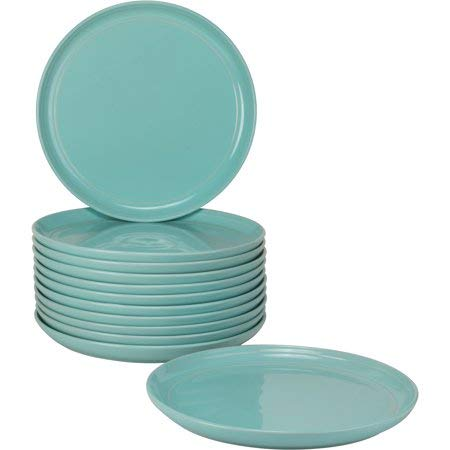 10 Strawberry Street Double Line Catering Pack, Set of 12 Gray Salad Plates 8.25