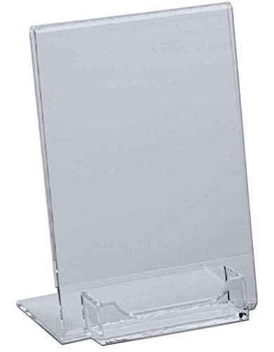 - 10 Pack of T'z Tagz Brand Acrylic 5x7 Sign Holder with Business Card Holder