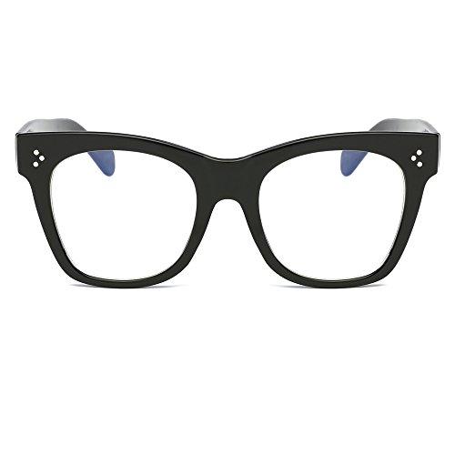 Feicuan Femme de Retro Glasses de Eyeglasses soleil Homme 3 F chat Sun Lunettes Classic Carré Œil Shades 45r4wqt