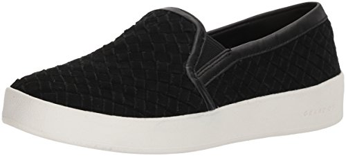 Cole Haan Women's Grandpro Spectator Slip ON Loafer, Black Woven Suede, 8 B US (Womens Loafers Cole Haan Shoes)