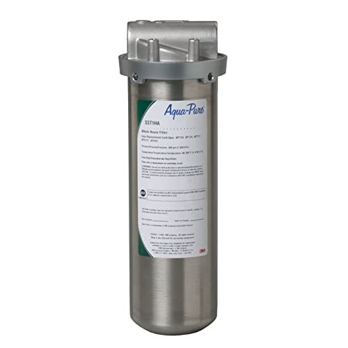 Image of Under-Sink & Countertop Filtration 3M Aqua-Pure Whole House Std. Dia. Stainless Steel Filter Housing SST1HA, 5592001