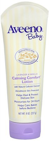 Aveeno Baby Lavender & Vanilla Calming Comfort Lotion, 8 oz (Pack of 2)