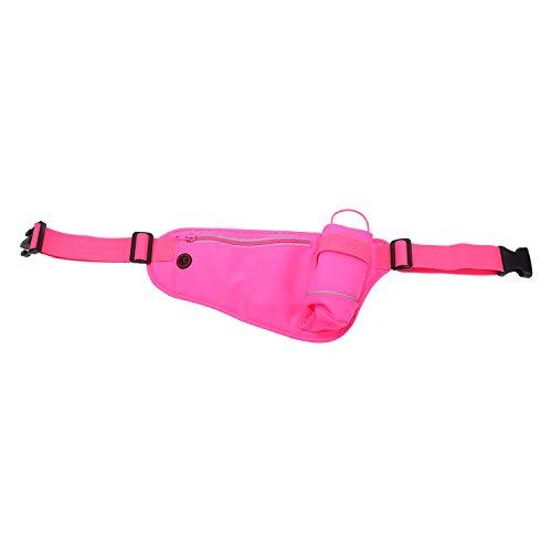 Laufgürtel, Running Belt Hüfttasche Sport-/Reise-multi-pochette leicht für Handy Kompatibel mit iPhone 7Plus, iPhone 8x Samsung Galaxy S7, S8und anderen Smartphones Dark Pink