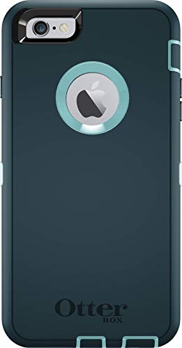 OtterBox Defender Series Case for iPhone 6s Plus & iPhone 6 Plus (Case only - No Holster) Non-Retail Packaging - Dark Jade/Aqua Blue SER