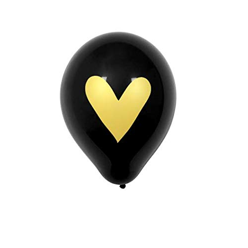 SKYLANTERN balón Boda corazón Dorado Negro: Amazon.es: Hogar