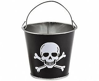 ossbones Small Tin Pail Buckets | Kids Party Supplies & Decorations ()