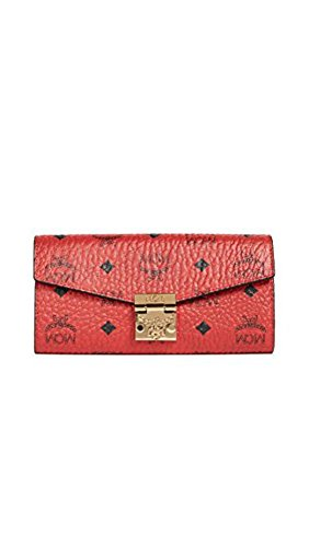 MCM Women's Patricia wallet chain compact Red