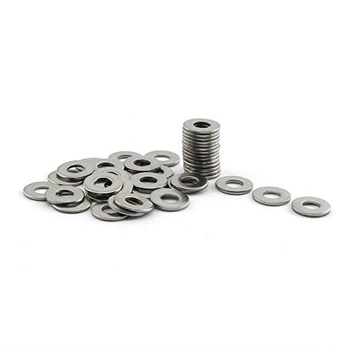Adjustment Washer - PZRT 40pcs M5 304 Stainless Steel Flat Washer Adjustment Hardware Fitting Accessories Metal Gasket for Bolts & Screws