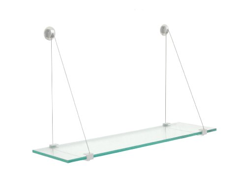 Review Crane Floating Glass Shelf (33 in. W x 6 in. By Spancraft by Spancraft