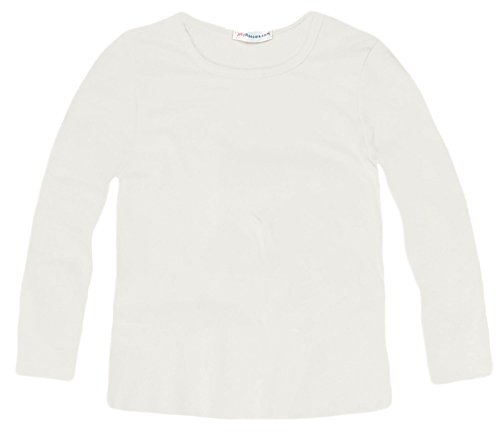 Jolly Rascals Girls Long Sleeved Stretch Fit T-Shirt White 13 Years
