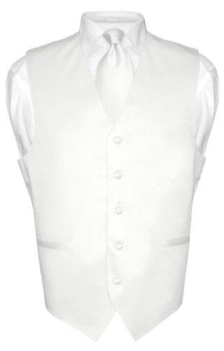 mens-dress-vest-necktie-solid-white-color-neck-tie-set-for-suit-or-tux-sz-med
