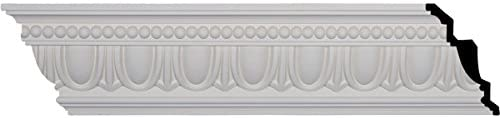 "Ekena Millwork 7 – 1 / 4 "" H x 5 "" P x 8 – 3 / 4 "" F x 96 – 1 / 8 "" L Egg and Dart Crown Molding with 4 ""繰り返し Single MLD07X05X08EG 1"