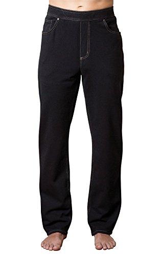 - PajamaJeans Men's Straight Leg Knit Denim Jeans, Black, Large