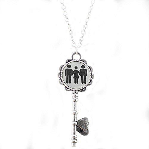 Swinger Jewelry MFM Threesome Kinky Lifestyle Keychain Hotwife Hot Wife - Religious Jewelry Key Necklace