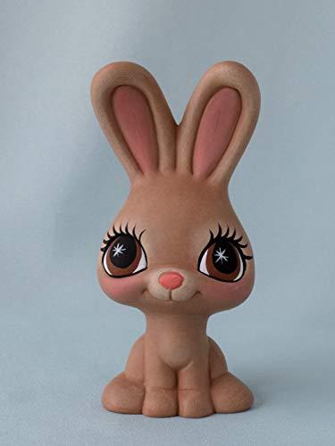 Ceramic Bunny Figurine Kids Room Decoration