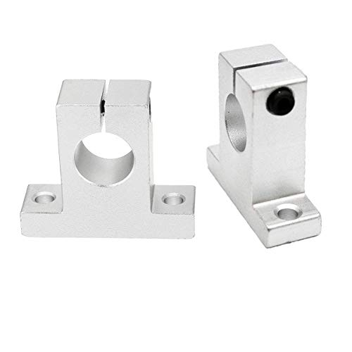 - COMOK SK20 Shaft Inner Diameter 20mm Silver Tone Linear Rail Shaft Slide Support for CNC Parts 2Pcs
