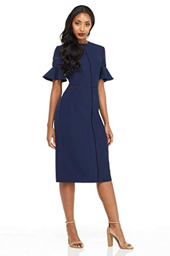 3428a713 Maggy London Women's Dream Crepe Sheath, Navy, ...
