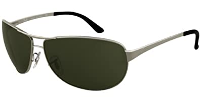 5a42916430 Image Unavailable. Image not available for. Colour: RAY BAN 3342 004/58  GUNMETAL POLARIZED AVIATOR SUNGLASSES [Eyewear]