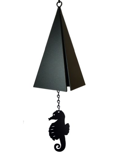 American Harbor Collection: 3-Tone Wind Bell with Seahorse Wind Catcher