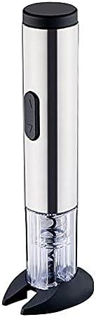 SuDeLLong Sacacorchos eléctrico Abrigo de Vino Bomba de presión de Aire Removedor de Corcho Abierto Abierto de Botellas de sacacorchos de Vino Profesional (Color : Silver, Size : 28.8x5.5cm)