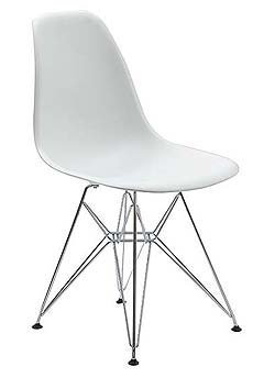 Beau The Patricia White Eiffel Chair Molded By InteriorVision