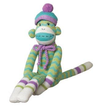 Sock Monkeez Monkey - MILO Green Sock Monkey Yarn 14