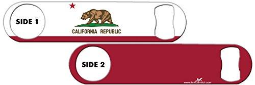 Inked Bottle Opener Flag: California