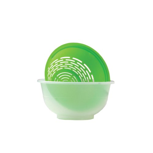 Fit Organic Fruit and Vegetable Soaking Bowl and Colander